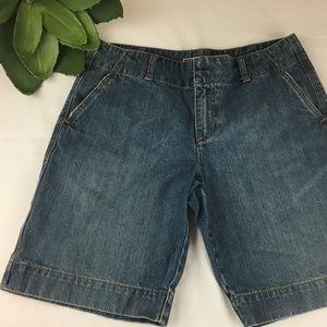 Old Navy Denim Bermuda Shorts Long Vintage